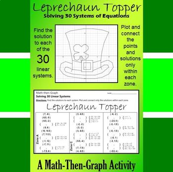 St. Patrick's Day - Leprechaun Topper - Math-Then-Graph -