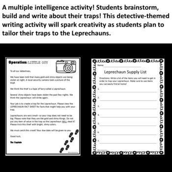 St Patrick's Day - Leprechaun Trap - Elementary Writing Activity