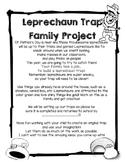 St. Patrick's Day Leprechaun Trap Parent Letter