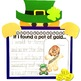 St. Patrick's Day Leprechaun craft and writing activity