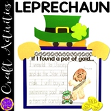 St Patrick's Day Leprechaun craft and writing activity