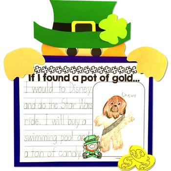 St Patrick's Day Leprechaun craft and writing activity