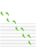St. Patrick's Day Leprechaun footprints themed writing papers
