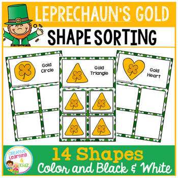 Shape Sorting Mats: Leprechaun's Gold St. Patrick's Day