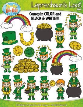St. Patrick's Day Leprechaun's Loot Clipart {Zip-A-Dee-Doo-Dah Designs}