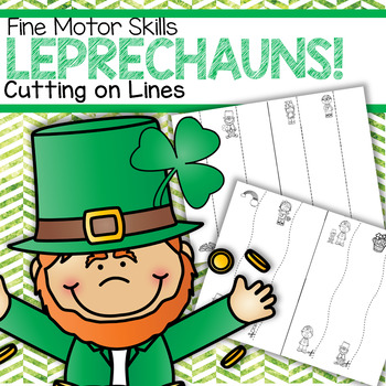 St. Patrick's Day Leprechauns Cutting and Tracing Lines Fine Motor Skills FREE