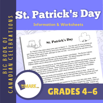 St. Patrick's Day Lesson Plan Grades 4-6