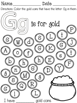 Letter Identification Worksheet