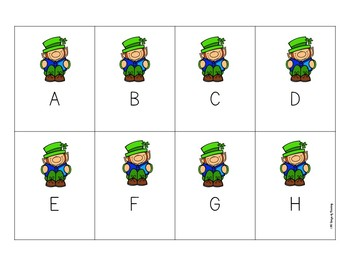 St. Patrick's Day Letter Names and Sounds Game