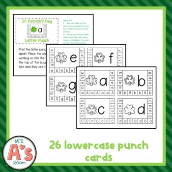St. Patrick's Day Letter Punch Busy Box