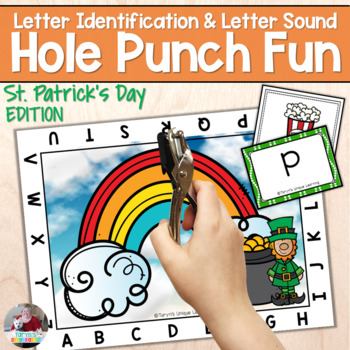 Letter Recognition and Sounds- St. Patrick's Day Hole Punch
