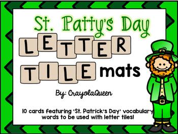 St. Patrick's Day Letter Tile Mats