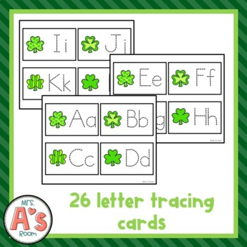 St. Patrick's Day Letter Tracing Busy Box