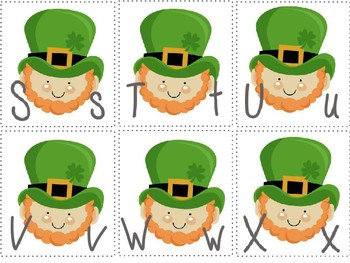 St. Patrick's Day Letter Uppercase and Lowercase Matching