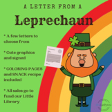 St. Patrick's Day Letter from a Leprechaun, PLUS Snack Recipe (For HOME)