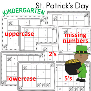 St. Patrick's Day Letters and Numbers