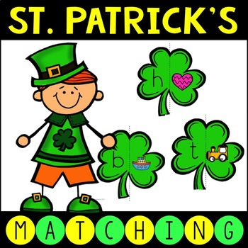St. Patrick's Day Letters and Sounds Matching Game