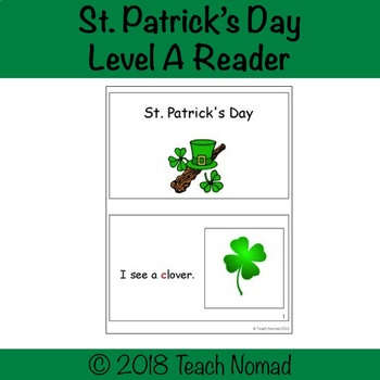 St. Patrick's Day Level A Reader