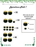 St. Patrick's Day - Leveled Leprechaun Math