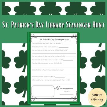 St. Patrick's Day Library Scavenger Hunt
