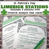 St. Patrick's Day Limerick Analysis Stations, Task Cards,