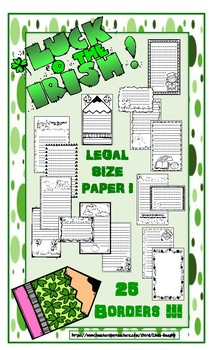 St. Patrick's Day Lined Writing Paper