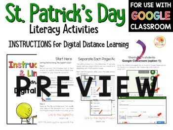 St. Patrick's Day Literacy Activities: No Prep Worksheets