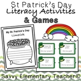 St. Patrick's Day Literacy Activities & I have Who Has Game *Limerick*