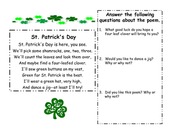 St. Patrick's Day Literacy Centers Bundle