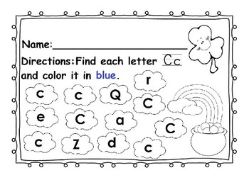 St. Patrick's Day Literacy Bundle (alphabet letters)