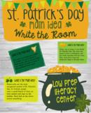 St. Patrick's Day Literacy Center - Identify the Main Idea Write the Room