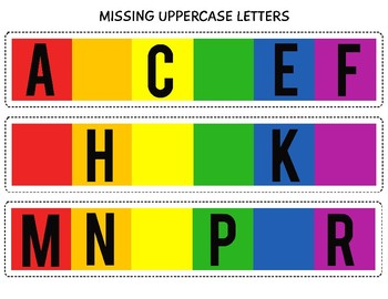 St. Patrick's Day Literacy Center: Missing Uppercase & Lowercase Letters/FREE!
