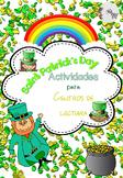 St Patrick's Day Literacy Center Spanish / San Patricio Ce