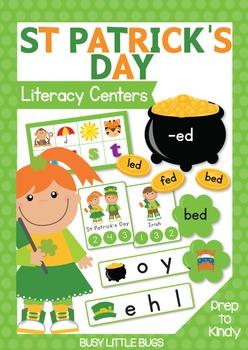St Patrick's Day Literacy Centers