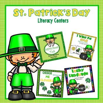St. Patrick's Day Literacy Centers - BUNDLE