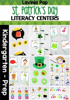 St. Patrick's Day Literacy Centers for Kindergarten