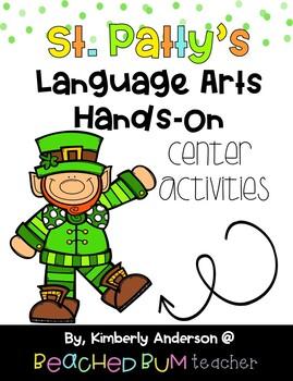 BUNDLE: St Patrick's Day Literacy / Grammar / Language Arts Centers (8 Products)