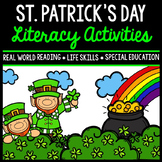 St. Patrick's Day Literacy - Special Education - Print & Go - Life Skills - ELA