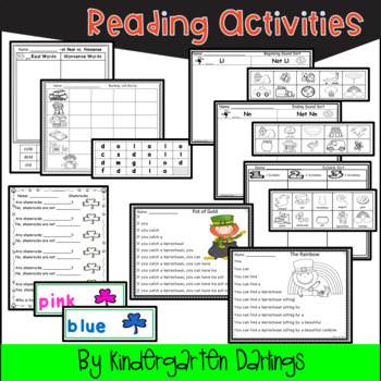 St. Patrick's Day Literacy Unit- Emergent Reader, Centers and More