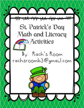 St. Patrick's Day Literacy and Math Activities