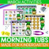 March Morning Tubs for Kindergarten
