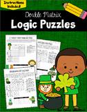 St. Patrick's Day Logic Puzzles -  Double Matrix