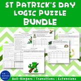 St Patrick's Day Logic Puzzles Gr 5 - 8