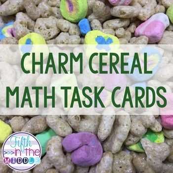 St. Patrick's Day Lucky Charms Fraction Operations Task Cards