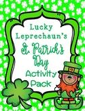 St. Patrick's Day Lucky Leprechaun's HUGE Activity Pack
