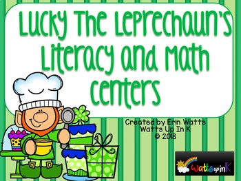 St. Patrick's Day Lucky's Bakery Literacy and Math Centers