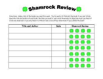 St. Patrick's Day Lucky to Know You writing and Shamrock Book Review