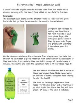 St. Patrick's Day Magic Leprechaun Juice