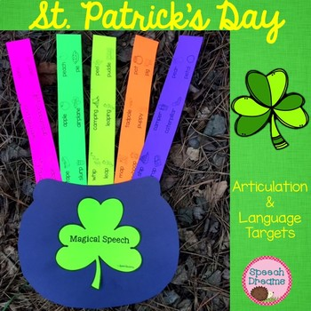 St. Patrick's Day Magical Speech Therapy Craft {articulation language}