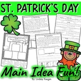 St. Patrick's Day - Main Idea and Details Activities